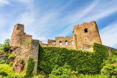 Ruined castle in Frauenstein stock photography
