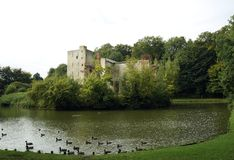 Ruined castle in Grimbergen Royalty Free Stock Photo