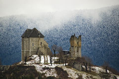 Free Ruined Castle In Winter Ambiance Stock Image - 79690281