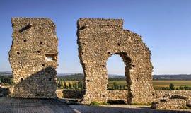 Ruined castle of Montemor-o-Velho royalty free stock photos