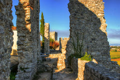 Ruined castle of Montemor-o-Velho stock photography