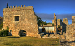 Ruined castle of Montemor-o-Velho stock image