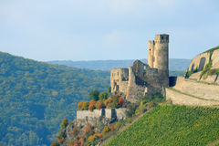 Ruined castle in Rhineland, Germany Royalty Free Stock Image