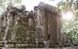 Ruined castle in rural thailand Stock Photography