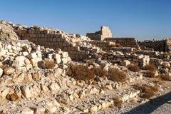 Ruined castle Shobak Stock Photos