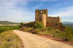 Ruined castle in spain Royalty Free Stock Photo