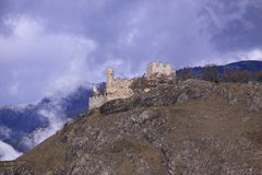 Ruined castle in Switzerland Royalty Free Stock Photography