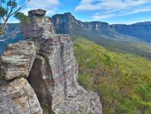 From the ruined castle. The top of the Ruined castle rock formation stock photo