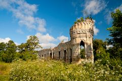 Ruined Castle, Ukraine Stock Photos