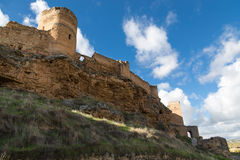 Ruined castle wall Royalty Free Stock Image