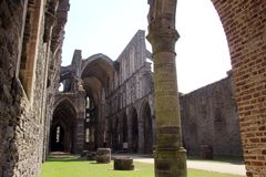 Ruined Cathedral. Ruined remians of Catherdral at Villers-la-Ville, Belgium Stock Photography