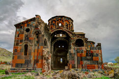 Ruined Cathedral of Talin, Aragatsotn, Armenia Stock Image