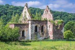 Ruined Catholic Church In Ukraine Stock Photography