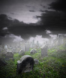 Ruined cemetery Royalty Free Stock Photos