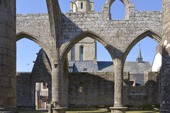 Ruined chapel at Batz-sur-Mer in France Royalty Free Stock Photography