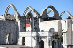 Ruined church. In old Lisbon, Portugal Stock Image