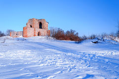 Ruined Church of the Annunciation at the Rurik settlement Stock Image