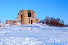 Ruined Church of the Annunciation at the Rurik settlement Royalty Free Stock Image