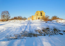 Ruined Church of the Annunciation at the Rurik settlement Royalty Free Stock Images
