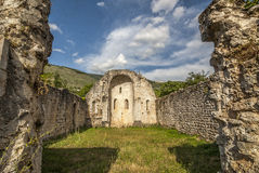 Ruins of church in Umbria Royalty Free Stock Image