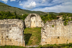 Ruins of church in Umbria Stock Images