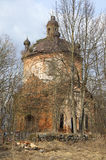 Ruined Church of Clement. Zapolie, Leningrad region Stock Image