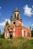 Ruined church. Close to Andrianovo manor house, Leningrad region, Russia Royalty Free Stock Images