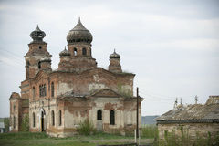A ruined church. Destruction of the Orthodox Church Royalty Free Stock Image