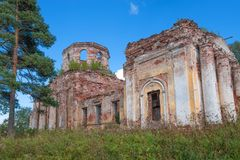 Ruined Church of the Intercession of the Holy Virgin Stock Images