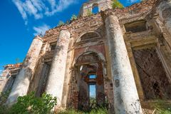 Ruined Church of the Intercession of the Holy Virgin Stock Image