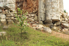 A ruined church. Of red brick Royalty Free Stock Photos
