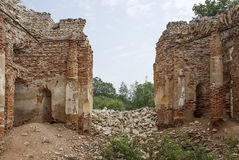 A ruined church. Of red brick Stock Photography