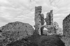 Ruined church of st James Bawsey Stock Photo