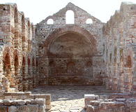 Ruined church of St Sofia in Old Town Nesebar, Bulgaria Royalty Free Stock Images