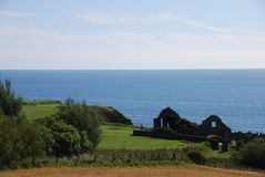 Ruined Church at Stonehaven Stock Images