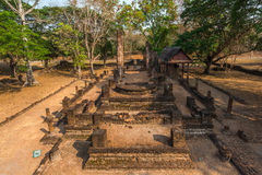 Ruined church. In Sukhothai history park, travel destination of  Thailand Royalty Free Stock Photos