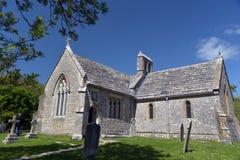 Ruined church, Tyneham Stock Images