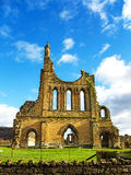 A Ruined Cistercian Monastry in Yorkshire, England royalty free stock photo