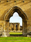 A Ruined Cistercian Monastry in Yorkshire, England Stock Photos