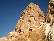 Ruined City in Cappadocia. Beautiful view of a ruined city in Cappadocia royalty free stock photography