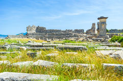 The ruined city. The view on the ruines of ancient city Xanthos, Turkey Stock Photos