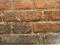 Close-up wall of red brick stock photography