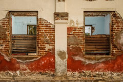 Ruined Colonial Home Stock Photos