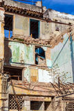 Ruined colonial house on the streets of old Havana Royalty Free Stock Photography