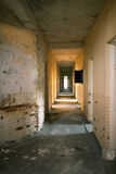 Ruined Corridor in an Abandoned Hospital Royalty Free Stock Images