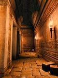 Ruined corridor Royalty Free Stock Photography