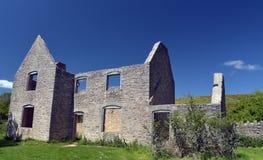 Ruined cottages, Tyneham Stock Image