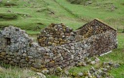 Ruined croft Stock Image