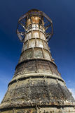 Ruined derelict lighthouse, Whiteford Sands, Gower Peninsula, So. Whiteford Lighthouse is the only wave swept cast iron lighthouse in Britain. See here at low Stock Images
