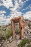 Ruined door in Bodie ghost town, California Royalty Free Stock Photo